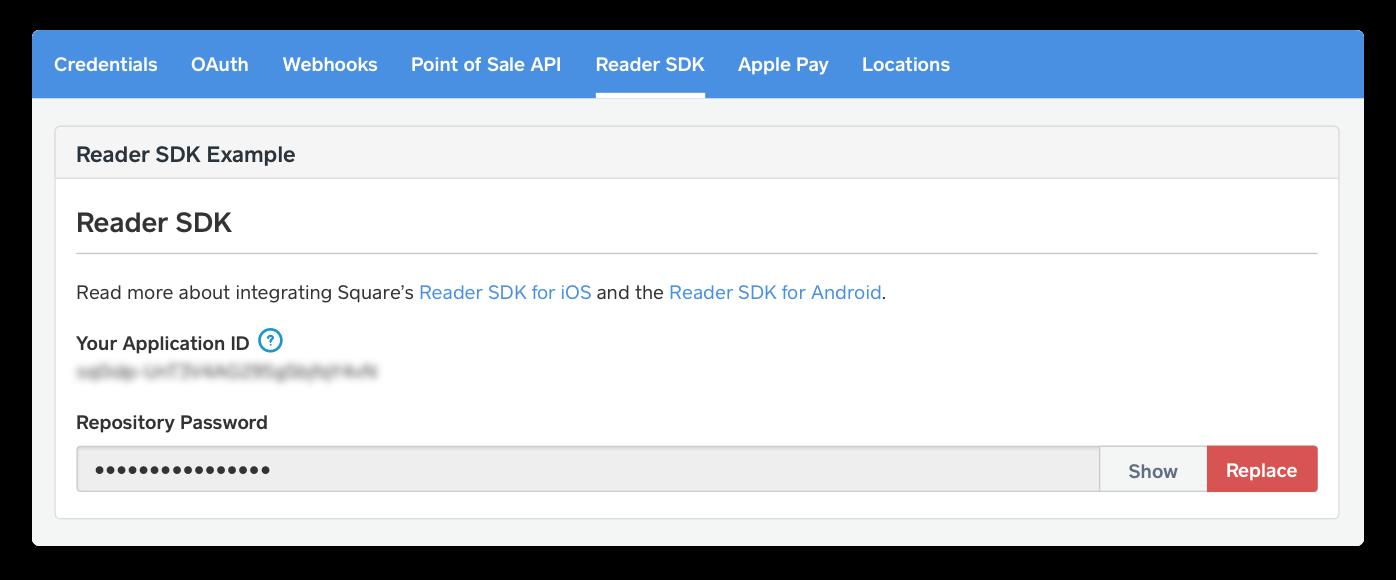 Readersdk settings page